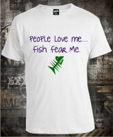 Футболка People Love Me Fish Fear Me