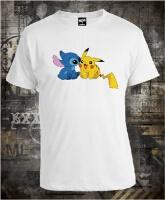 Футболка Pikachu and Stich