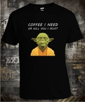 Футболка Stars Wars Yoda Coffee I Need