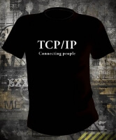 Футболка TCP/IP connecting people