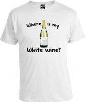 Футболка Where is My White Wine