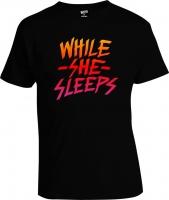 Футболка While She Sleeps Sunset Name