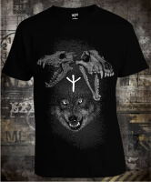 Wolf and Skulls