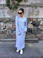 Платье с длинным рукавом макси